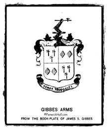 John Gibbes' family's Coat of Arms.