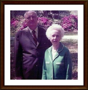Claude W. and Helena I. Blanchard of Fenwick Hall. Photo from late 1970's courtesy of Claude W.Blanchard III