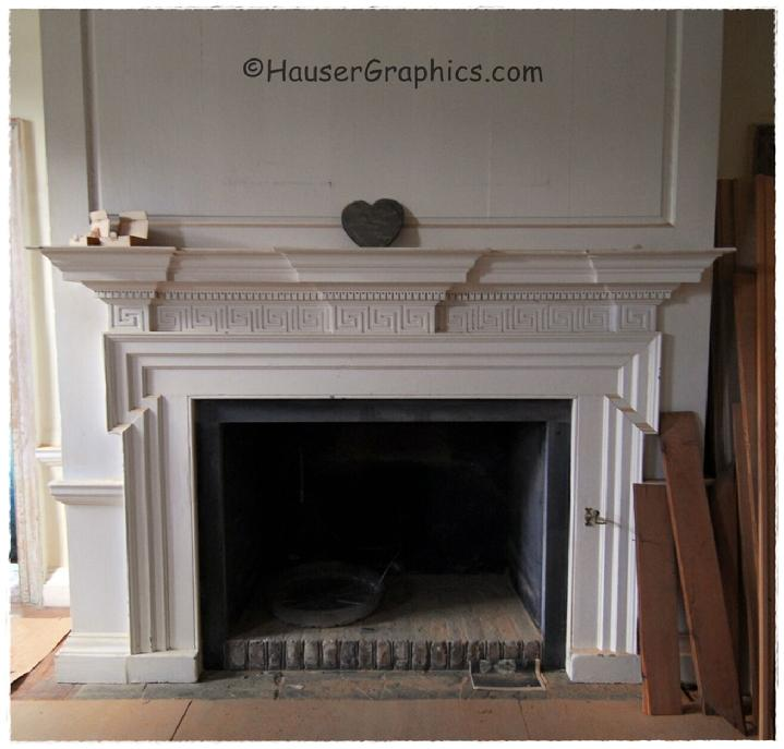 2009 Restoration of the Great Hall's fireplace.